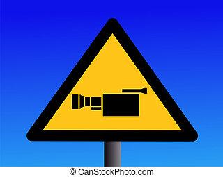 warning cctv camera sign