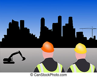 construção, local, Cingapura