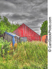 Derelict Sheds - An HDR Photo of Derelict Sheds