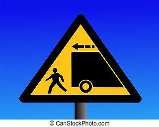 trucks reversing sign