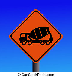 cement mixer sign
