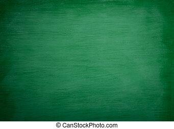Green blackboard Background Chalk rubbed out on board