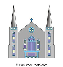 Baptist church - Illustration Baptist Church with a blue...