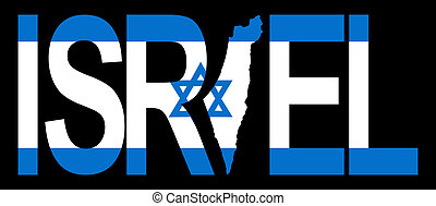 Israel with map on flag