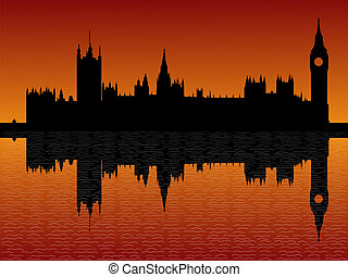 Houses of parliament London at dusk - Houses of parliament...