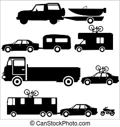 Holiday transportation recreation vehicles towing caravans...