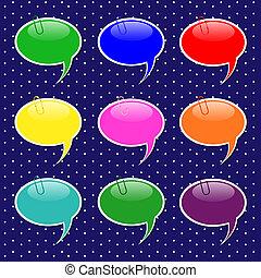 Speech Bubble Sticker Shapes in Pastel Colors - Speech...