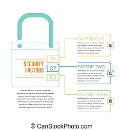 Security Factors Infographic - Vector illustration of...
