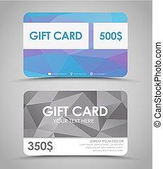 Design gift cards  polygonal