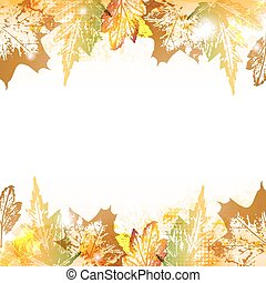 Autumn leaves background - Abstract autumn leaves imprints...