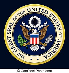 The Great Seal of the US - Highly detailed vector design of...