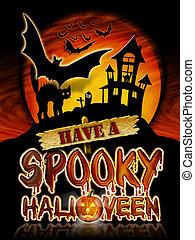 Halloween Spooky Bats - Have a Spooky Halloween Chrome...