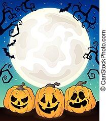 Halloween pumpkins theme  illustration.
