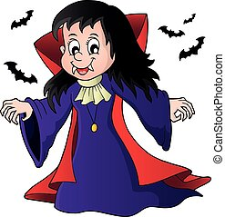 Vampire girl theme image illustration