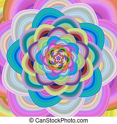 Colorful floral fractal background design