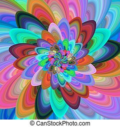 Colorful computer generated fractal background - Crazy...