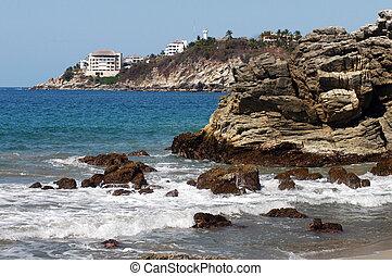 Beach in Puerto Escondido, Mexico