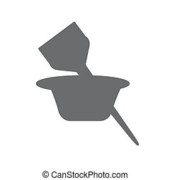 icon. hair's coloring brush - Cosmetic brush for hair...