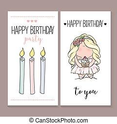Romantic Invitation announcement or congratulation card -...