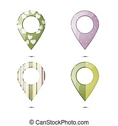 Map vector icons set