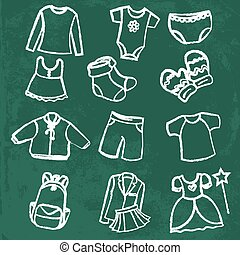 clothes collection vector illustration - clothes collection...
