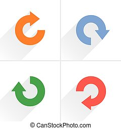 Arrow icon refresh, reset, repeat, reload sign - 4 arrow...