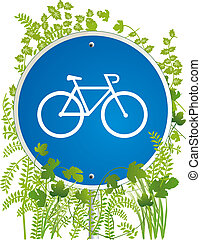 bicyclist road sign