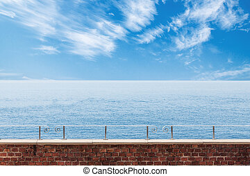 Calm seascape view