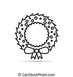 krans, Kerstmis, pictogram
