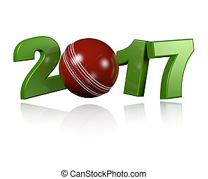 Cricket ball 2017 design with a white Background