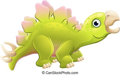 Cute Cartoon Dinosaur Stegosaurus