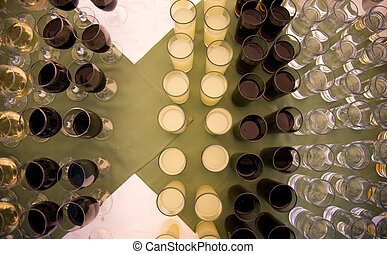 Set of collection cup glasses with drinks - picture of a Set...