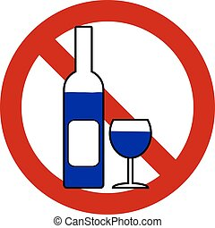 No bottle and glasse sign.