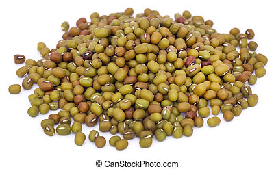 Mung bean over white background