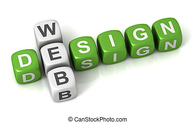 web design cubes concept  3d illustration