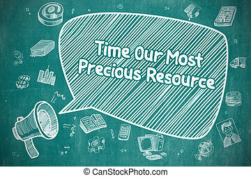 Time Our Most Precious Resource - Business Concept. - Time...