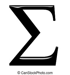 3D Greek Letter Sigma - 3d Greek letter Sigma isolated in...