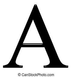 3D Greek Letter Alpha