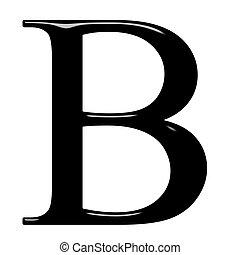 3D Greek Letter Beta - 3d Greek letter Beta isolated in...