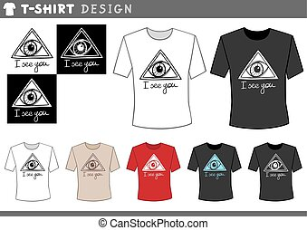 t shirt design with eye - Illustration of T-Shirt Design...