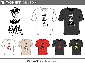 t shirt design with core - Illustration of T-Shirt Design...