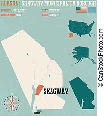 Skagway Census Area in Alaska - Large and detailed map and...