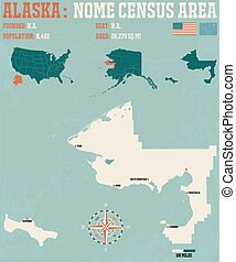 Nome Census Area in Alaska - Large and detailed map and...