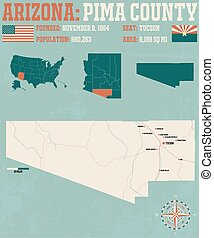 Pima County in Arizona - Large and detailed map and...
