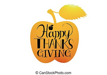 Happy Thanksgiving Day - Flat design style Happy...