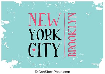 Vintage Touristic Greeting Card. Brooklyn. New York City....