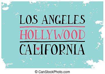 Vintage Touristic Greeting Card. Los Angeles. Hollywood....