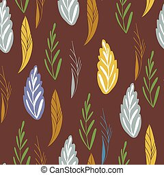 Vector pattern in autumn colord. Seamless pattern with...