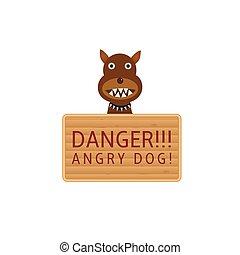 Angry dog plate