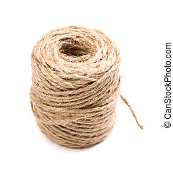 New spool of craft twine isolated